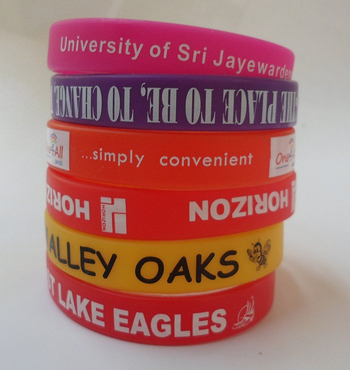 silicone awareness bracelets printed silicone wristbands